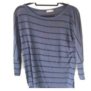 Lightweight navy and black striped sweater